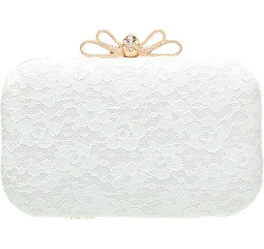 Pochette gold/weiß da sposa matrimonio cerimonia