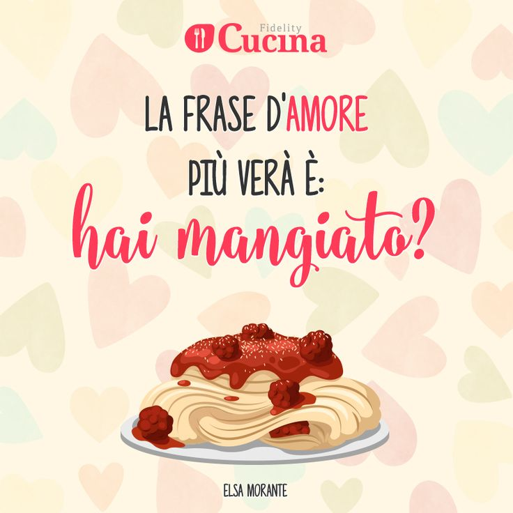 Amato 10 best Frasi sul cibo images on Pinterest | Baking center, Clean  XR61