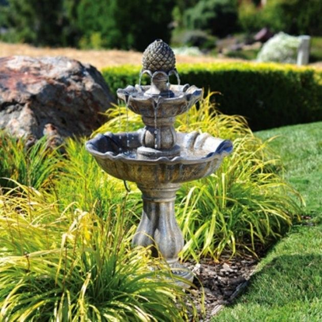 Outdoor Water Fountains Make your yard interesting with the use of a water feature