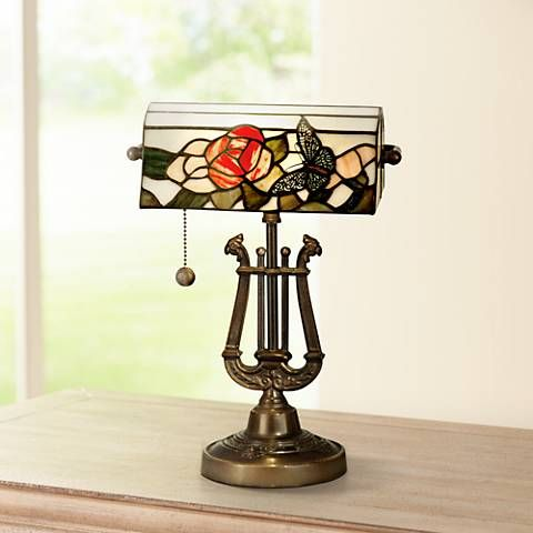 13 best Tiffany style bankers lamp images on Pinterest ...