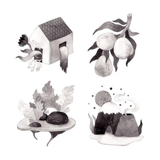 Inktober, Day 25-28. Olga Svart Illustration