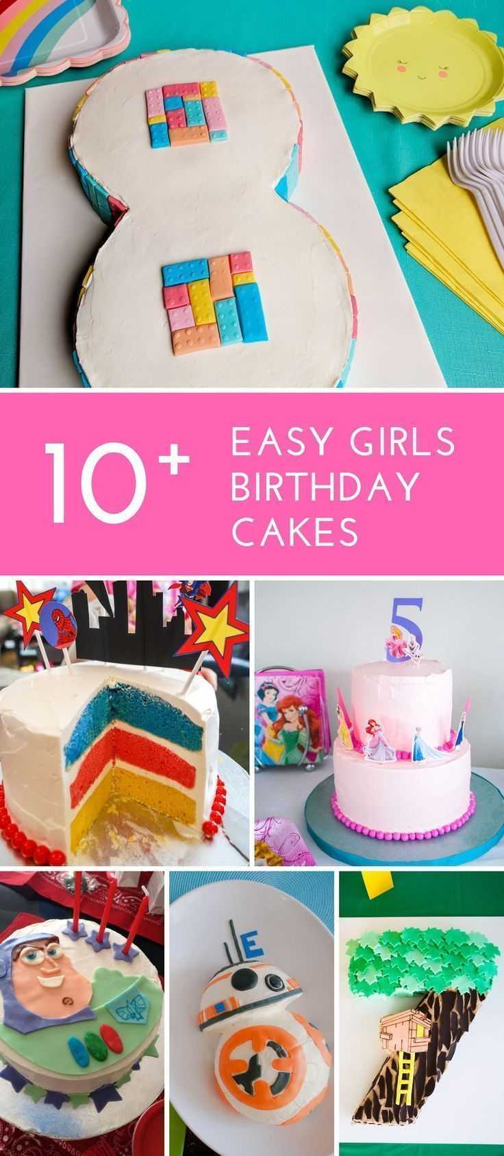 Easy Girls Birthday Cakes See These Simple DIY Girl Cake Ideas For Beginner Decorators Includes Age LEGO Friends Super Heroes