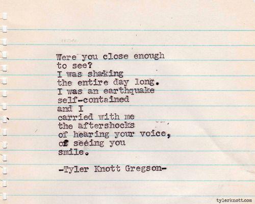 Typewriter Series #257by Tyler Knott Gregson