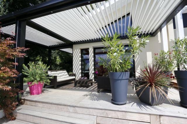 Terrassen Überdachung-Biossun Privatsphäre-Sonnenschutzanlage