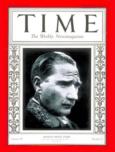 TIME Magazine Cover: Mustafa Kemal Pasha - Feb. 21, 1927 - Ataturk - Mustafa Kemal Pasha - World War I - Turkey - Military