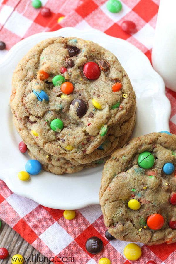 Our new favorite cookie recipe - Giant Chewy M&M Cookies
