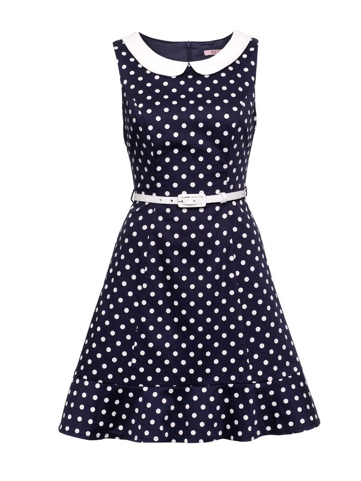 Connect the Dots Dress | Navy & Cream | Polka Dot Dress