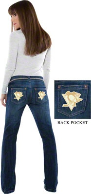 Pittsburgh Penguins Women's Denim Jeans - Touch by Alyssa Milano