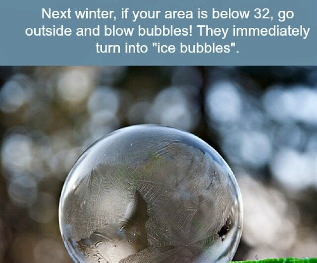 Bubble winter fun