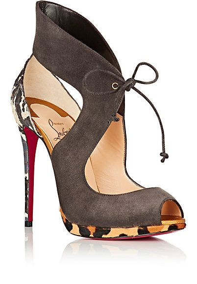 Christian Louboutin Campanina Suede & Snakeskin Platform Sandals - Sandals - 504754581