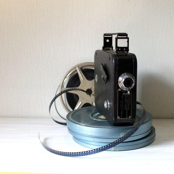 Vintage movie camera V8 Display or Bookshelf by opendoorstudio, 32.00