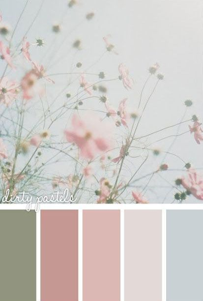 Nice shabby chic combo - good colors for shabby-chic painted rocks and stones #shabbychicbathroomscolors