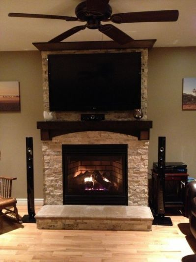 Best 20+ Tv Over Fireplace ideas