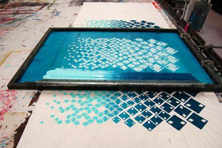 Fison-Zair: Work In Progress: Screen Printed Length - super cool ombre screen print idea