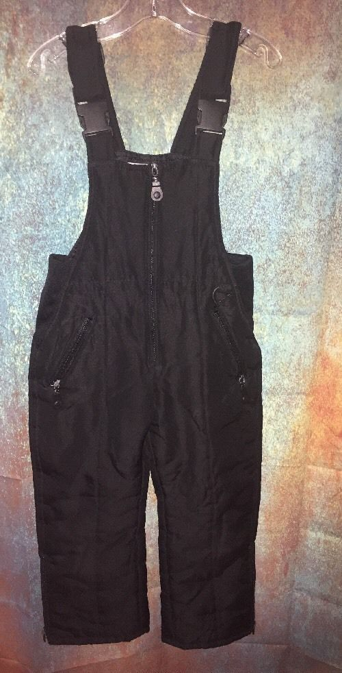 Athletic Works Childrens S Black Bib Snow Suit Ski Pants Overalls Winter Gear  | eBay