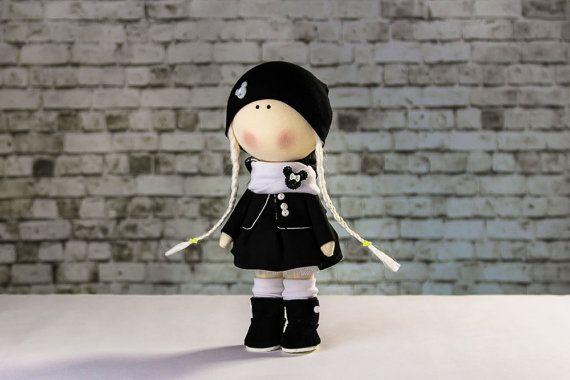 Doll Minni. Tilda doll. Textile doll. Soft toy. Cute by OwlsUa