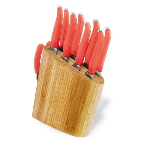 Furi Rachael Ray Gusto Grip Forged Bamboo Knife Block Set, 10-piece | cutleryandmore.com