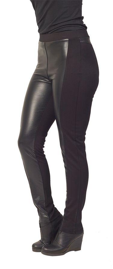 Vassalli Leather Look Legging www.sassys.co.nz