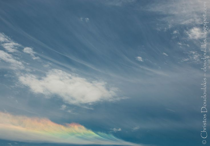 csath07 posted a photo:  A circumhorizontal arc appeared yesterday in the sky above Athens. A relatively rare but very beautiful optical atmospheric phenomenon which owes its appearance to the ice crystals provided by the cirrus clouds. This phenomenon happens when the Sun is high enough in the sky (late spring and summer noons for middle latitudes) and can be distinguished from the infralateral arc which appears in the same place relatively to the Sun, by the fact that the circumhorizontal…