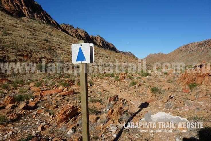 Typical Larapinta Trail signage marker. Section 9. © Explorers Australia Pty Ltd 2014