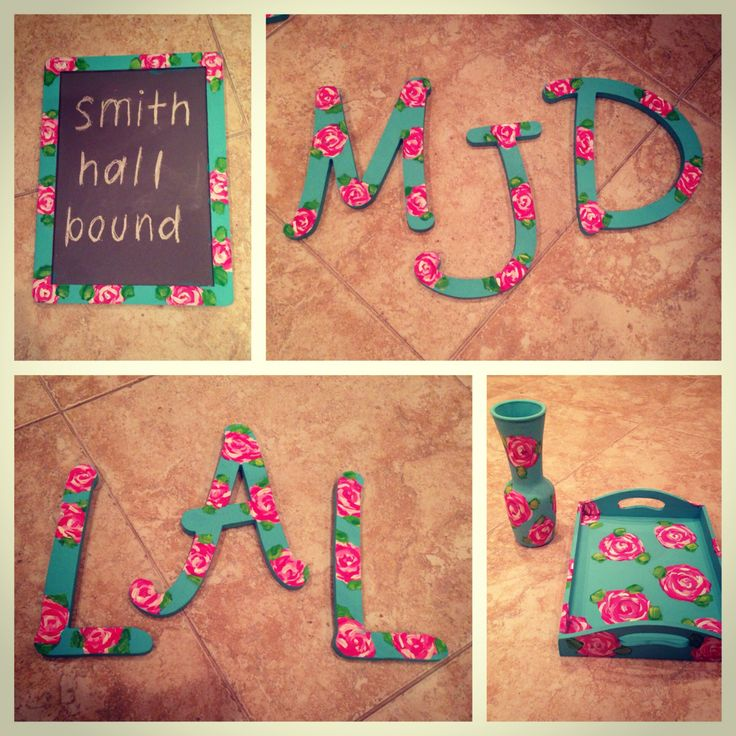DIY Lilly Pulitzer Dorm Decor College Life Pinterest Paint Colors And