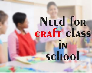 Everyone have some liking for #craft work. It is something that entertains and involves us to do creative things. But in this growing internet world every things is #digitized.  Read More At <> http://www.edubilla.com/articles/arts-and-crafts/need-for-craft-class-in-school/
