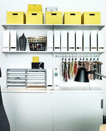 b ror ume mit algot wandschienen und b den an der wand. Black Bedroom Furniture Sets. Home Design Ideas