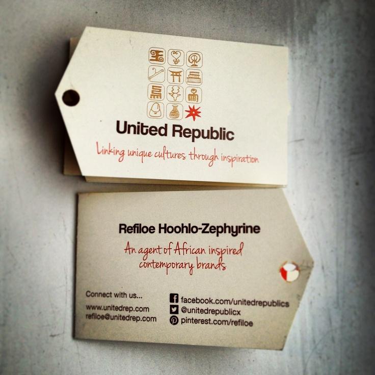 """United Republic - """"linking unique cultures through inspiration"""""""