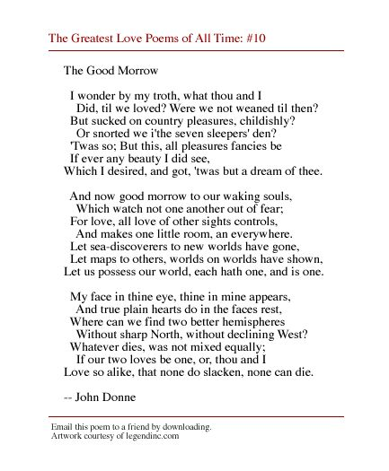 a comparison of the portrayal of love in three poems by john donne and william shakespeare In this lesson, we explore shakespeare's sonnet 116, one of the bard's most heartfelt portrayals of true love the love shakespeare describes does.