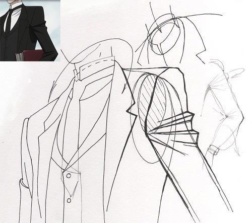 Как нарисовать анимешное платье