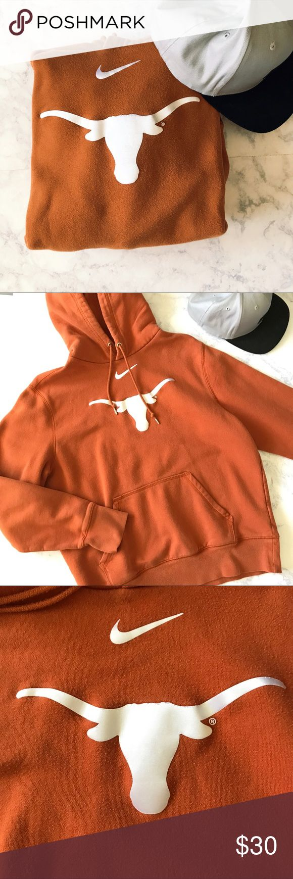 Texas Long Horns Hoodie Texas Hoodie. In great condition! Perfect for the season!  warm and comfortable. Nike Jackets & Coats