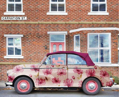 Poppytalk: Graham & Brown Wallpaper car.