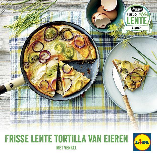 Recept voor frisse lente tortilla van eieren met venkel #Lente bij #Lidl