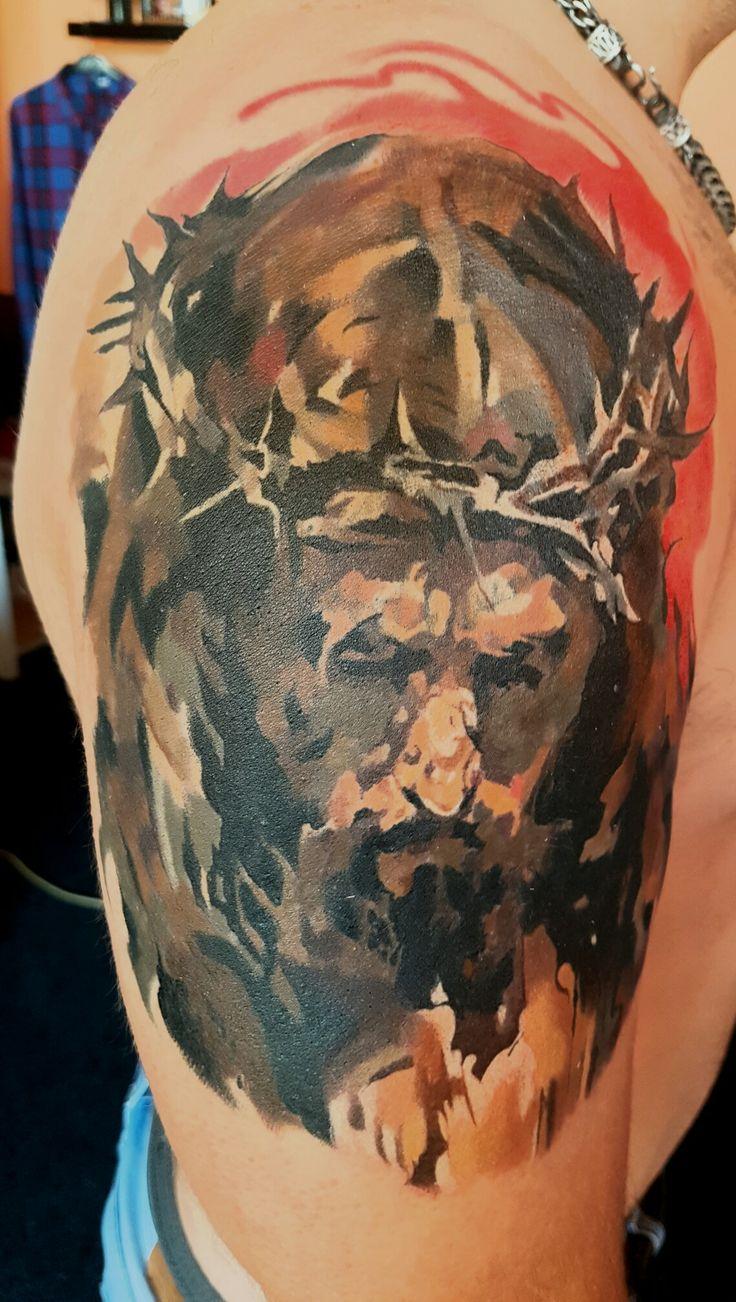 Jesus christ symbol cross tattoo