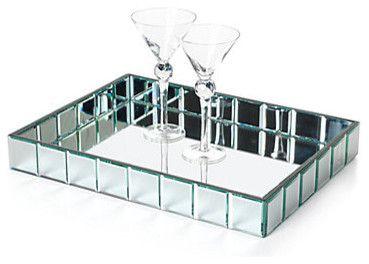 Lively Rectangular Mirage Tray contemporary serveware