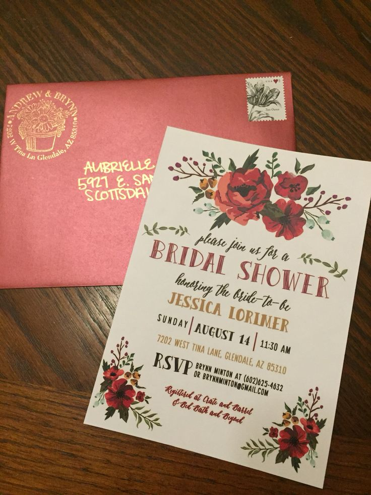 Best 25 Bridal shower invitations ideas – How to Address Wedding Shower Invitations