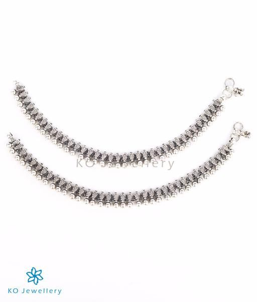 The Isha Silver Anklets #silver #anklets #online #shopping