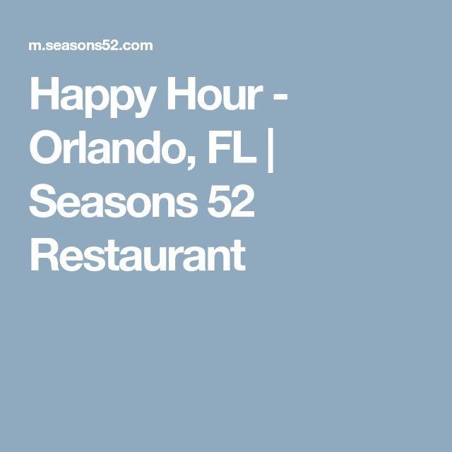 Happy Hour - Orlando, FL | Seasons 52 Restaurant