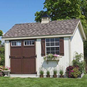Little Cottage 16 x 12 ft. Pinehurst Colonial Panelized Garden Shed Kit (DIY)