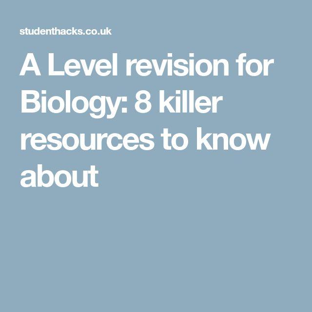 A Level revision for Biology: 8 killer resources to know about