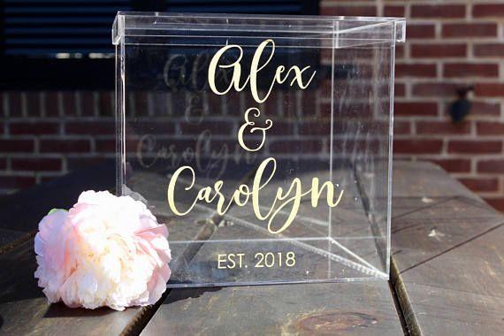 Personalized Wedding Card Box I Acrylic Card Box I Wedding Etsy Card Box Wedding Personalized Wedding Card Box Wedding Cards
