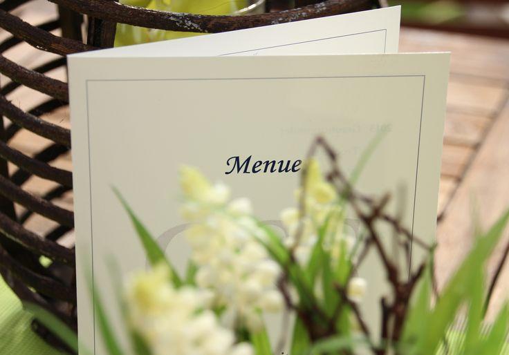"""Il menu di nozze  Grazie al nostro software """"schobuk"""" potrete creare carte dei menu personalizzat"""