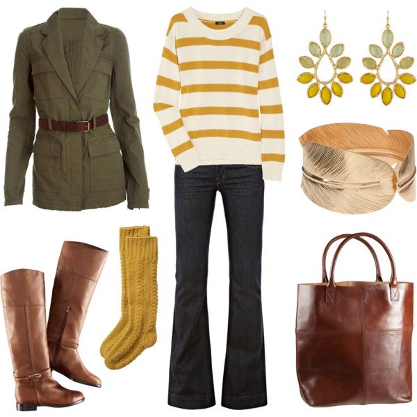 should be worn while walking through fallen leaves. Yellow Stripes, Fashion, Fall Colors, Style, Clothing, Stripes Sweaters, Fall Outfits, Cute Outfit, Mustard Yellow