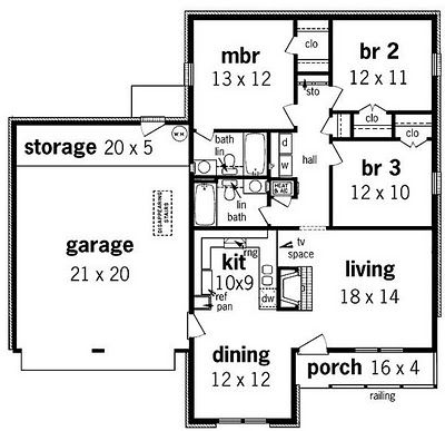Simple small house floor plans planhouse house plans for Simple easy to build house plans