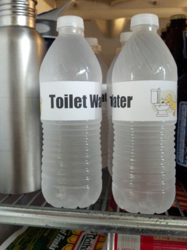 """Toilet Water"" for dog themed birthday party."