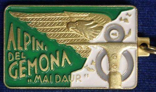 Moderna riproduzionedel distintivo del Battaglione Gemona