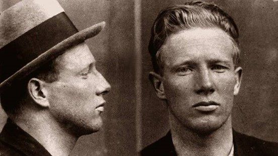 """John Daniel Cutmore had had 18 convictions recorded against him since 1914. Known as """"Snowy"""" Cutmore, he had also appeared under various aliases, including that of John McLaughlin, John Nolan, John Watson, and John Harris. His longest sentence was 12 months in Sydney in 1923 for thieving. Snowy would kill Squizzy Taylor in 1927 #geelonggaolghosttours"""