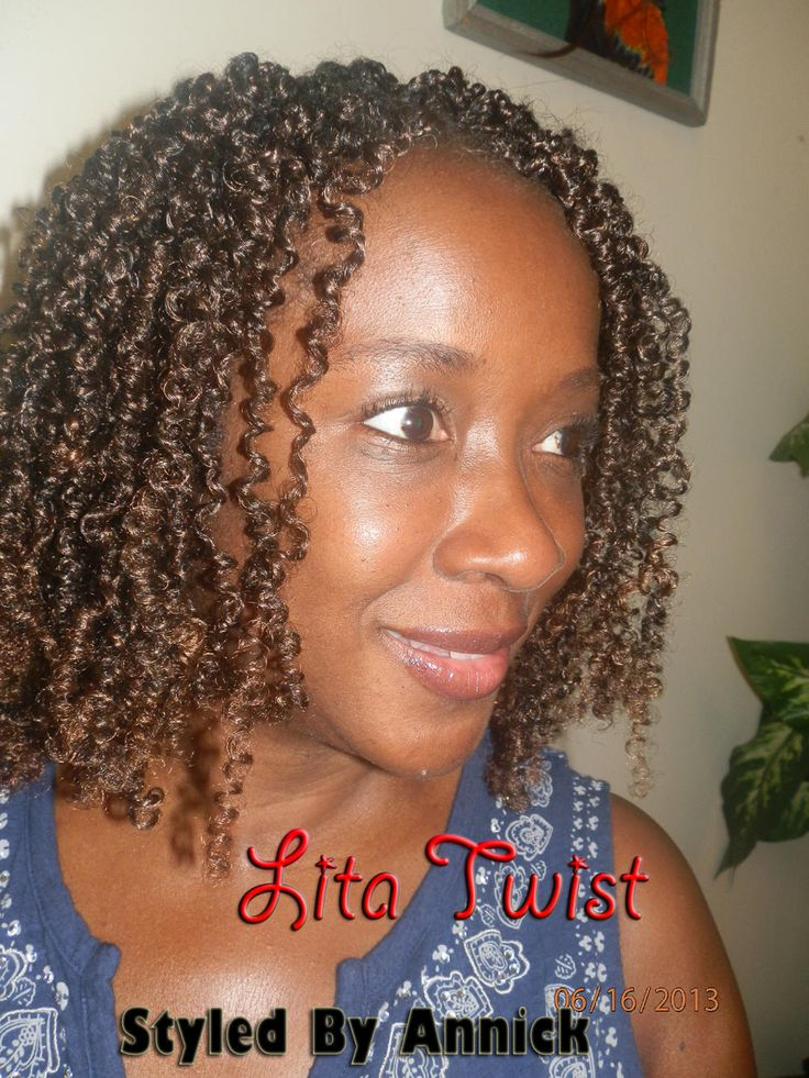 Lita Twists Using Afro Coil Or Spring Twist Hair
