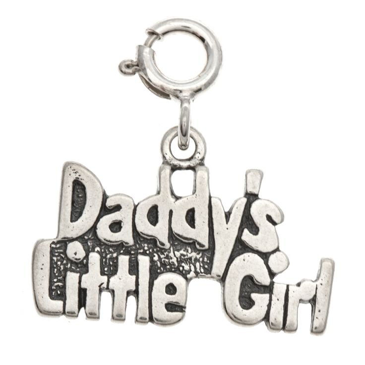 Sterling 'Daddy's Little Girl' Charm