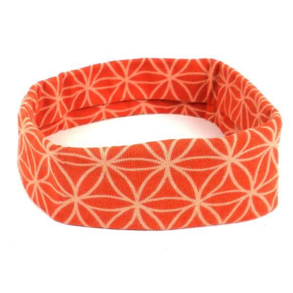 Flower of Life Headband - Orange - Global Groove (W)
